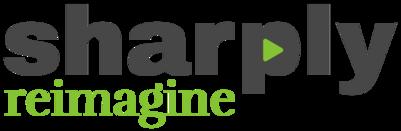 Sharply Reimagine Black logo401